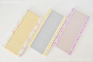 麻の葉デザインのちりめん生地を使った畳のセット
