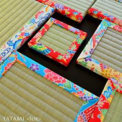 沖縄 琉球 紅型 プリント ミニ畳