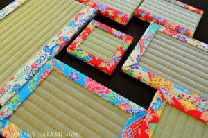 沖縄琉球紅型プリントコットンを使ったミニ畳