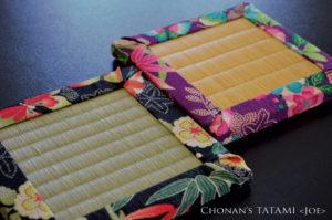 美しい板谷なおみデザインの花の楽園風呂敷を使ったおしゃれなミニ畳