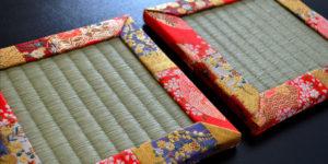 金襴パッチワークのミニ畳