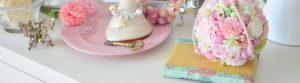 西陣織金襴七宝柄生地を使ったミニ畳とフラワーボールアレンジメント
