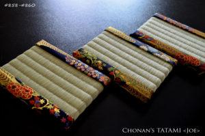 金流水に四季の草花デザインの西陣織金襴を使ったおしゃれなミニ畳