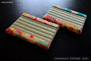 手捺染折り鶴古典文様柄の一越ちりめんを使ったミニ畳