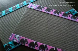 ゾウ柄のスリランカ製シルク手織りシルクを使ったミニ畳