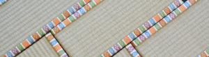 西陣織金襴の繧繝柄を使用したミニ畳