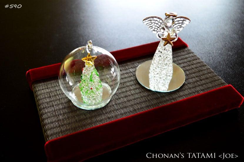 赤いベロア・ベルベットのクリスマスにピッタリお洒落なミニ畳