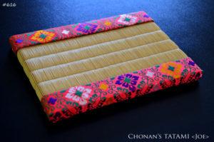 特殊畳縁の大和錦と龍鬢表を使ったミニ畳