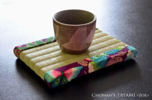 板谷なおみの花の楽園風呂敷を使ったミニ畳