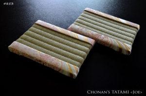 流線桜柄の西陣織金襴を使ったミニ畳