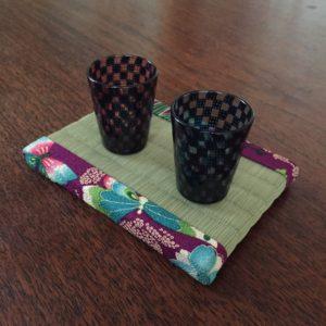 板谷なおみ花の楽園風呂敷を使ったミニ畳