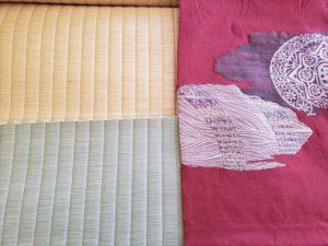 ミニ畳ご提案例 着物帯とりゅうびん表