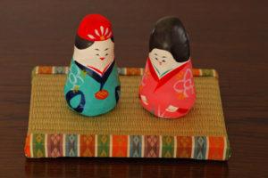 沖縄張り子琉球雛とミニ畳