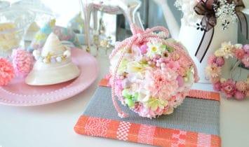 ボールブーケとおしゃれで可愛いミニ畳