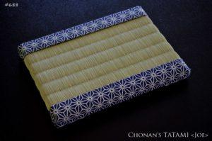 麻の葉模様の風呂敷と国産い草を使ったミニ畳
