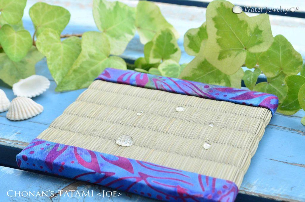 ミニ畳専門店 長南畳店が作るUSAコットン・バティックを使ったミニ畳コースター