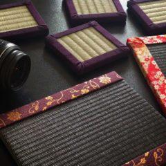 ミニ畳の撮影風景