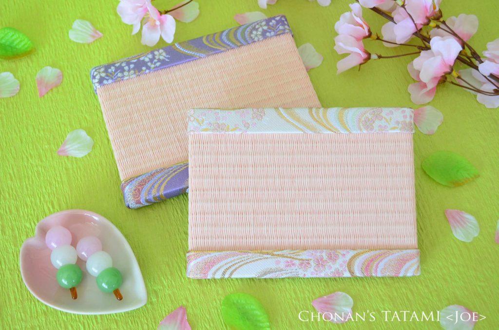 金襴生地の流線桜柄の高級感あふれる上品なミニ畳