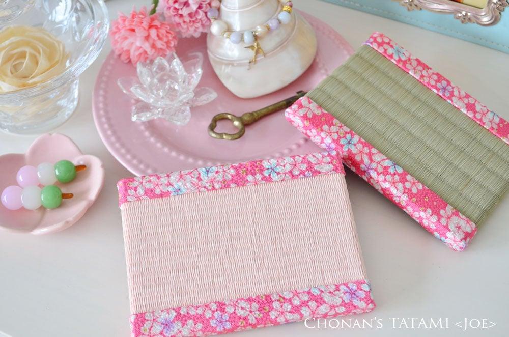 京友禅ちりめんの桜柄がかわいいミニ畳