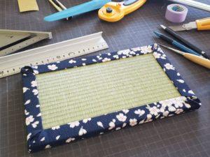 壁掛け仕様の桜柄のフルオーダーメイドミニ畳