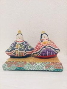 新工藝木版手染め雛人形とミニ畳
