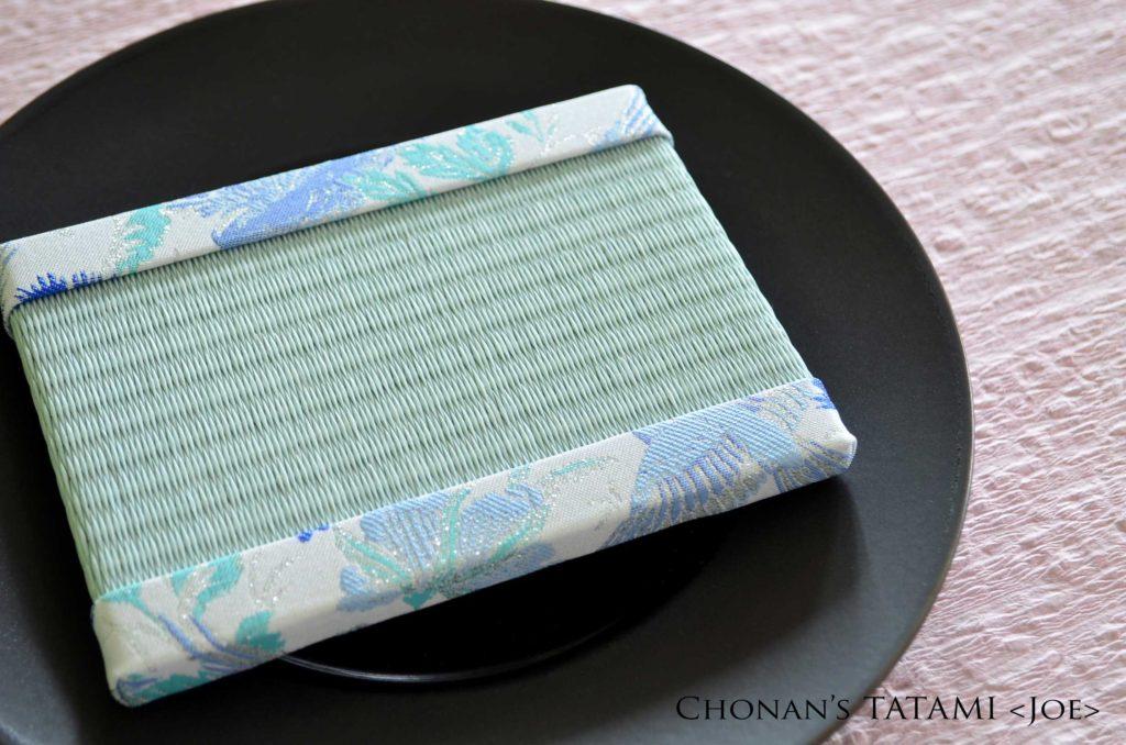 浅葱色のおしゃれでかわいい和紙製ミニ畳