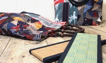 バッグの底板がミニ畳のきびるアクションバッグ