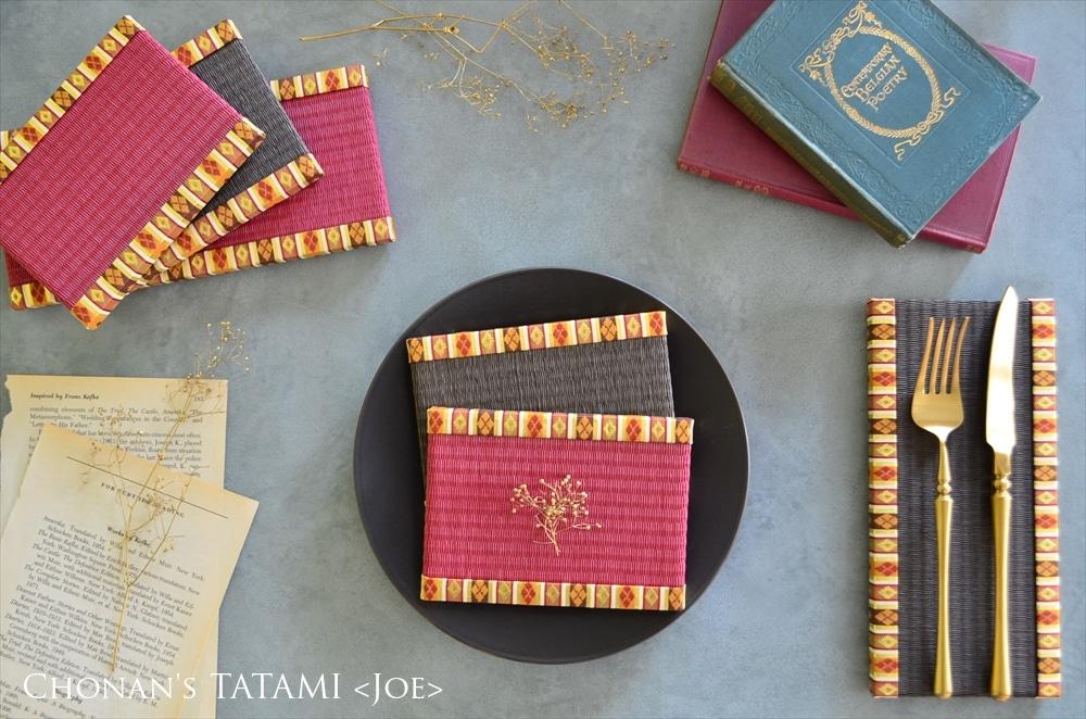 西陣織金襴繧繝柄を使った雛人形用ミニ畳