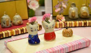 陶芸作品のためのミニ畳