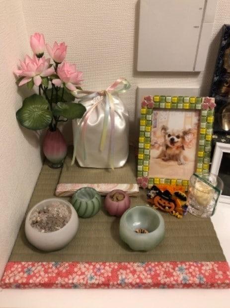 亡き愛犬用の仏具を置くためにフルオーダーにてお作りした畳