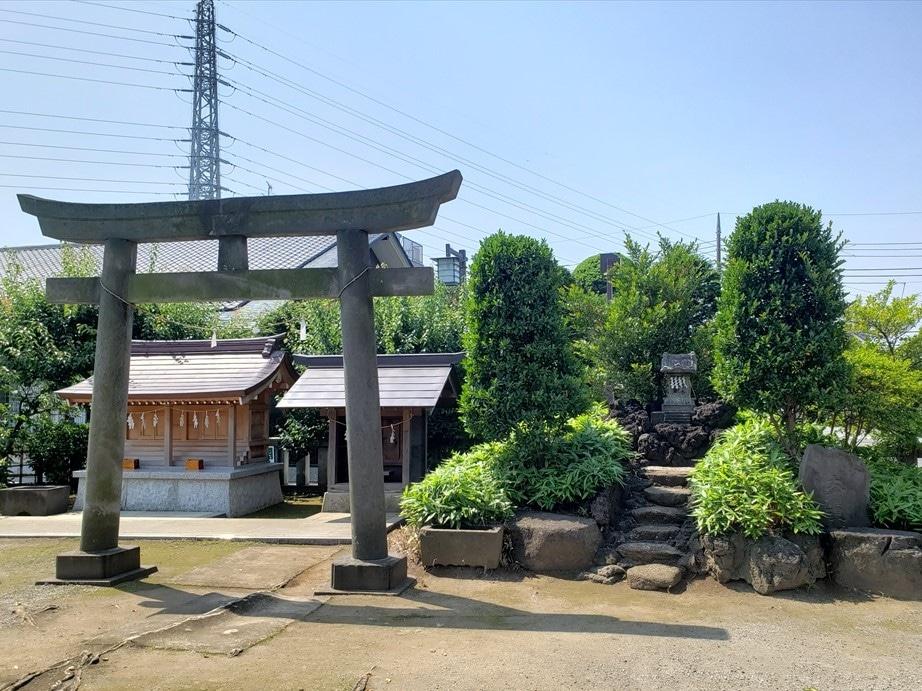 徳丸北野神社境内