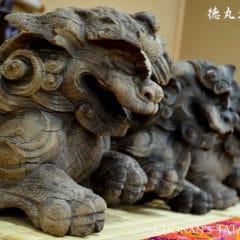 神社の木鼻(獅子鼻)のための厚畳