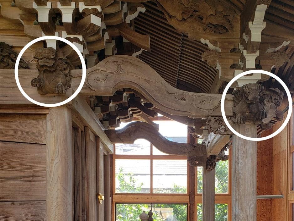北野神社本殿の木鼻